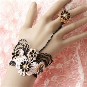 Lolita Lace cuff with ring